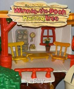 Vintage Winnie-the-Pooh Weebles Hunny Tree Complete+Box+Lots of Extras