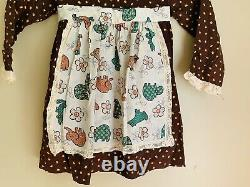 Vintage winnie the pooh sears collection girls brown dress size 6