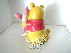 Vtg Disney Winnie The Pooh Animated with Piglet Cookie Jar/Canister 11 Tall
