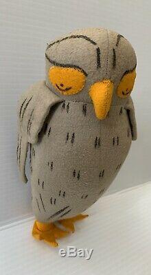 Vtg Old Winnie The Pooh Agnes Brush Stuffed Animal Disney Antique OwlDoll Bird