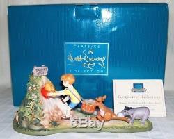 WDCC Walt Disney Classics WINNIE THE POOH AND THE HONEY TREE LE STUCK IN MIB COA