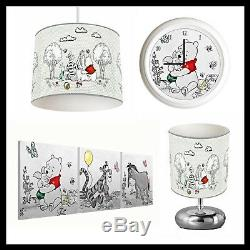 WINNIE THE POOH (201) Unisex Nursery Lampshade, Lamp, Clock & Pictures