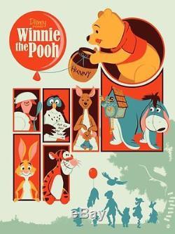 WINNIE THE POOH DAVE PERILLO MONDO DISNEY R2014 Limited edition print #390 MINT