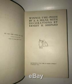 WINNIE THE POOH! (FIRST EDITION/FIRST PRINTING! 1926!) Methuen London Milne RARE