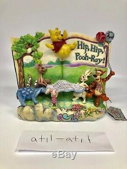 WINNIE THE POOH Jim Shore Storybook HIP HIP POOH-RAY Disney Rare