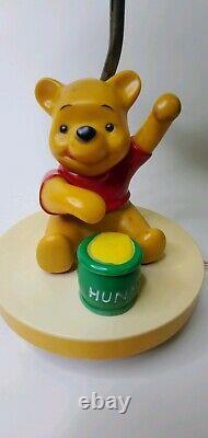 WINNIE THE POOH Vintage 1980 Hunny Pot Bear Holding Balloons. Lamp/Night Light