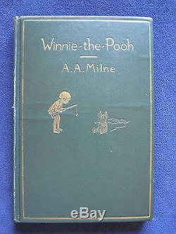 WINNIE THE POOH by A A MILNE First American Edition ERNEST H. SHEPARD Illus