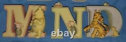 Walt Disney Michel Classic Winnie the Pooh Alphabet ALL 26 LETTERS Read Below