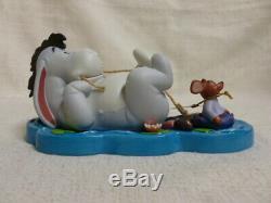Walt Disney Winnie Pooh Friends True Frienship Stays Afloat Eeyore Roo Figurine