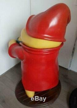 Walt Disney Winnie the Pooh honey pot life size statue rare store display retro