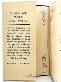 When We Were Very Young FIRST EDITION A. A. MILNE 1924 Winnie the Pooh