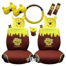 Marvelous Winnie The Pooh 10 Item Car Accessory Set Seat Covers Seat Spiritservingveterans Wood Chair Design Ideas Spiritservingveteransorg