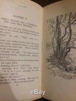 Winnie The Pooh 1926 RARE 1st Edition 1st Impression A A Milne Methuen E Shepard