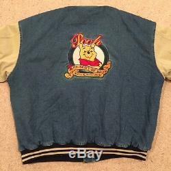 Winnie The Pooh Denim Varsity Jacket size XXL XXXTENTACION Disney Coat