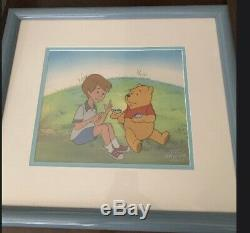 Winnie The Pooh Original Production Animation Cel & COA (Pooh & Chris)