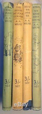 Winnie The Pooh Set, 4 Books, A. A. Milne, E. H. Shepard, Hardback Dustjackets