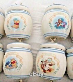 Winnie The Pooh Spice Jar Set Lenox New Disney 24 pieces