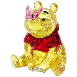 Winnie The Pooh With Butterfly 2018 Swarovski Crystal 5282928