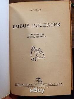 Winnie the Pooh 1st Polish Edition Kubus Puchatek 1946 AA Milne Fine Binding