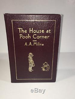 Winnie the Pooh 4-Book Collectors Edition by A. A. Milne Easton Press set Lot