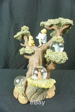 Winnie the Pooh 75th Anniversary Tree Snowglobe Snow Globe Tigger Piglet Eeyore