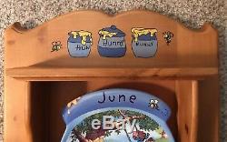Winnie the Pooh Bear Perpetual Calendar Plates WITH EXTRAS Bradford Exchange