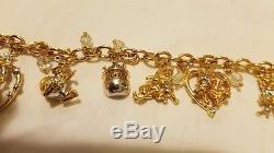 Winnie the Pooh Charm Bracelet Bradford Exchange/ Handcrafted