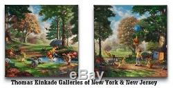Winnie the Pooh I & II Wrap Thomas Kinkade 14 x 14 Gallery Wrapped Canvas Set