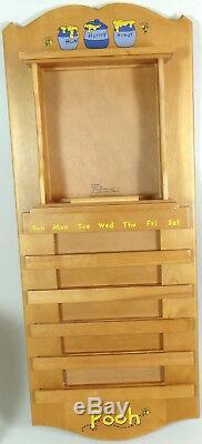 Winnie the Pooh Perpetual Wall Calendar Plate Whole Year Through COA Complete