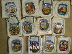 Winnie the Pooh Plate set/Bradford Exchange/Winnie the pooh plates/Plate set 12