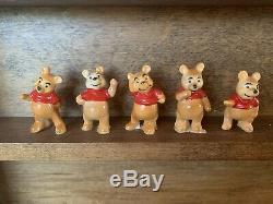 Winnie the Pooh, Tigger, Eyeore, Kanga, Christopher Robin, Vintage Enesco