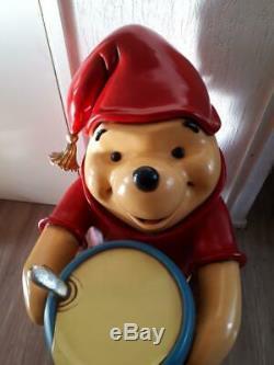 Winnie the Pooh butler waiter statue life size honey pot Walt Disney figure big