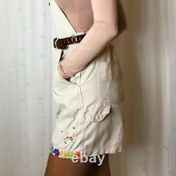 Winnie the pooh embroidered vintage dungarees shorts overalls