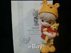Zb Precious Moments-Disney-Boy Holding Pooh-Hunny, Nobody Sweeter Than You