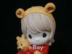 Zb Precious Moments-Disney-Girl withPooh Ears withWinnie the Pooh Doll VERY RARE