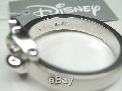 10 Ou 12 Auth Disney Winnie Le Pooh Tigger Sterling Bague En Platine Argent