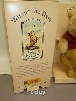 11 Winnie L'ourson Par Steiff, Mohair, Articulé, Tag Dans L'oreille Et La Boîte, # 02995