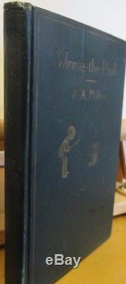 1926 A. A. Milne Winnie-le-pooh Ernest Shepard E. P. Dutton 1ère Édition U. S.