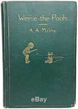 1926 Winnie The Pooh Vtg Première Soire Rare Impression Au 1 Er An Enfant Disney Bear A Milne