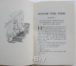 1929 Impression Winnie L'ourson Illustré Par Ernest H. Shepard Dans La Poussière Rare Ja