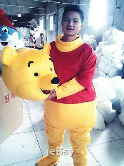 2019 Halloween Hot Winnie L'ourson Mascotte Costume Party Adulte Cosplay Robe De Costume