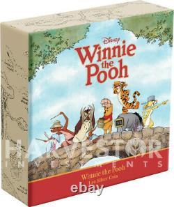 2020 Disney Winnie L'ourson Série Winnie L'ourson 1 Oz. Silver Coin Ogp
