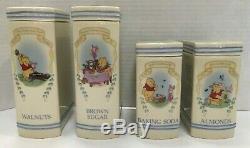 23 Pc Lenox Porcelaine Winnie L'ourson Garde-manger Spice Jar & Canister Set Free Navire