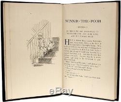 A. A. Milne Winnie L'ourson 1926 Première Impression Première Édition