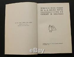 A. A. Milne. Winnie L'ourson. 1ère Édition, 1ère Impression. 1926
