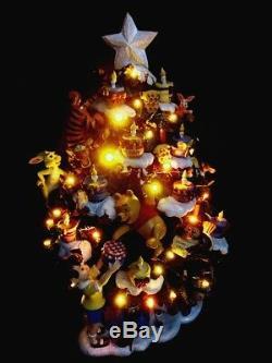 Afficheur De Sapin De Noël Illuminé À Del Disney Danbury Mint Winnie L'ourson Rare