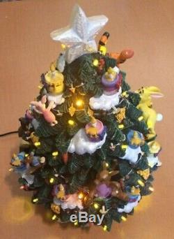 Arbre De Noël Illuminé Par Winnie Disney Winnie L'ourson De Danbury Mint (voir Description)
