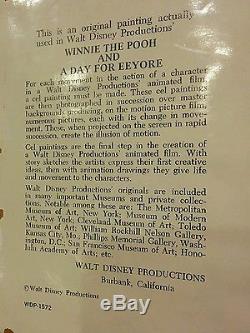 Art Original De Cel De Production Originale De Disney Winnie L'ourson Et Une Journée Pour Le Bourreau