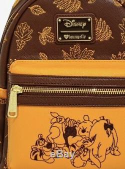 Avec Des Étiquettes Loungefly Disney Winnie L'ourson Automne Mini Sac À Dos