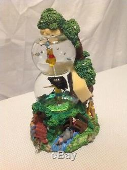 Awesome Winnie L'ourson Et Ses Amis Double Snowglobe, Nouveau, Rare